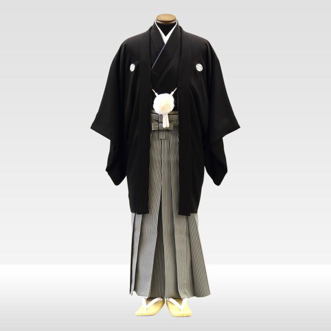 羽二重 + 仙台平(白×黒)