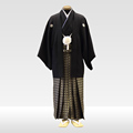 ヤマト紋服 + 黒地亀甲袴